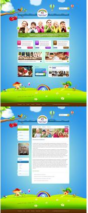 某幼儿园网站模板展示